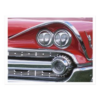 Vintage 1959 Klassiker-Auto-Grill-Fotografie Postkarte