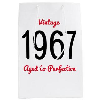 Vintage 1967 zur Perfektion ein 50 Mittlere Geschenktüte