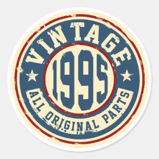Vintage 1995 alle Vorlagen-Teile Runder Aufkleber