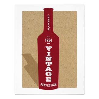 Vintage 60. Geburtstags-Wein-Party Einladung