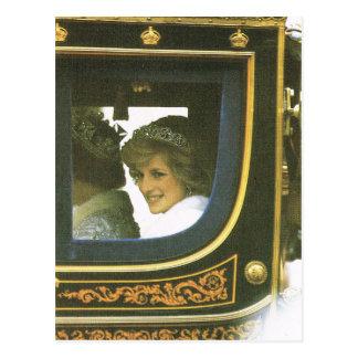 Vintage Abgabe, Königin und Diana Postkarte