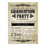 Vintage Abschluss-Party Einladung