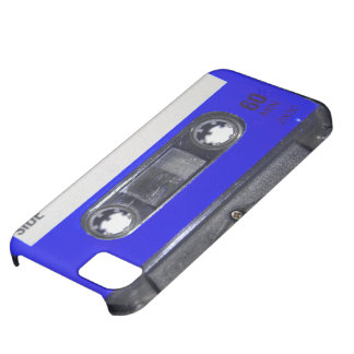 Vintage Achtzigerjahre blaue Aufkleber-Kassette iPhone 5C Hülle