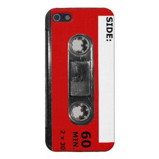 Vintage Achtzigerjahre rote Aufkleber-Kassette iPhone 5 Schutzhülle