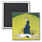 Vintage Anzeige für Victoria-Fahrräder Quadratischer Magnet