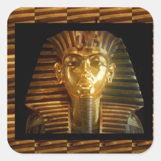 VINTAGE ägyptische Idol-Kunst: PYRAMIDEN von ALTEM Quadrat-Aufkleber