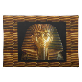 VINTAGE ägyptische Idol-Kunst: PYRAMIDEN von ALTEM Stofftischset
