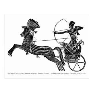 Vintage ägyptische Kunst-Karte König-Ramesses II! Postkarte