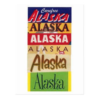 Vintage Alaska-Reise-Plakat-Postkarte Postkarte