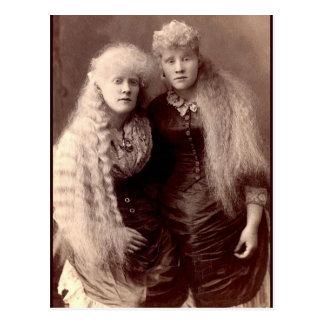 Vintage Albino-Schönheiten Postkarte
