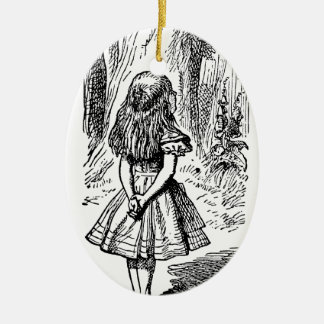 Vintage Alice im Wunderland, Cheshire-Katze Keramik Ornament