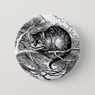 Vintage Alice im Wunderland, Cheshire-Katze Runder Button 5,7 Cm