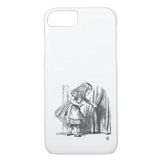 Vintage Alice im Wunderland, die nach der Tür iPhone 8/7 Hülle