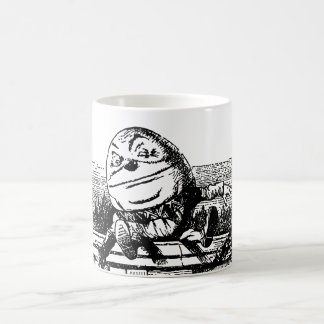 Vintage Alice im Wunderland, Humpty Dumpty auf Kaffeetasse