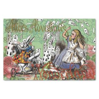 Vintage Alice im Wunderland kardiert Tee-Party Seidenpapier