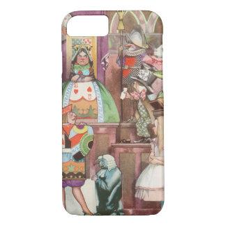 Vintage Alice im Wunderland, Königin der Herzen iPhone 8/7 Hülle