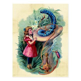 Vintage Alice im Wunderland-Postkarte Postkarte