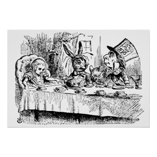 Vintage Alice im Wunderland, Tee-Party-Szene Poster