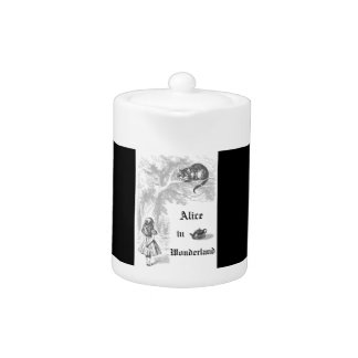 Vintage Alice im Wunderland-Themed Teekanne