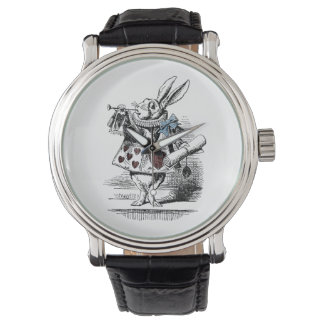 Vintage Alice im Wunderland-weiße Kaninchen-Uhr Uhr