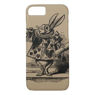 Vintage Alice im Wunderland-weißes Kaninchen als iPhone 8/7 Hülle
