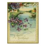 Vintage alles- Gute zum Geburtstagpostkarte Postkarte