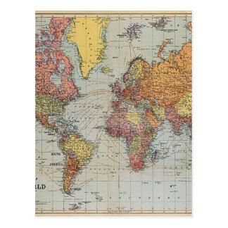 Vintage allgemeine Karte der Welt