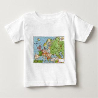 Vintage allgemeine Karte Europas des 20. Baby T-shirt