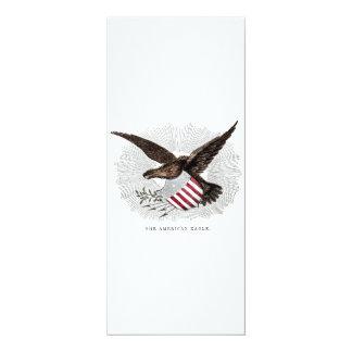 Vintage alte 1800s amerikanische Adler-Vogel-Illus Personalisierte Einladungen