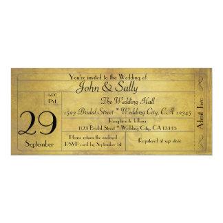 Vintage alte Art-Hochzeits-Karten-Einladung 10,2 X 23,5 Cm Einladungskarte