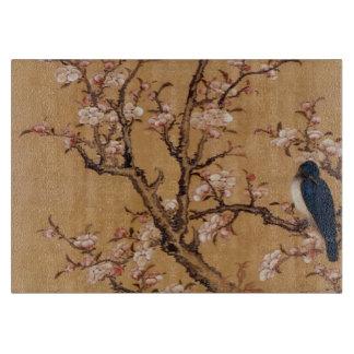 Vintage alte japanische Malerei eines Vogels auf