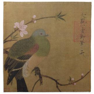 Vintage alte japanische Malerei eines wilden Servietten