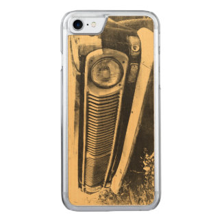 Vintage alte klassische Auto-Scheinwerfer Carved iPhone 8/7 Hülle