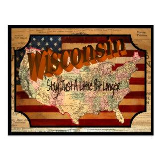 Vintage alte Postkarte Wisconsins