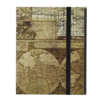 Vintage alte Weltkarten iPad Etui