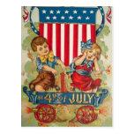 Vintage am 4. Juli Postkarte