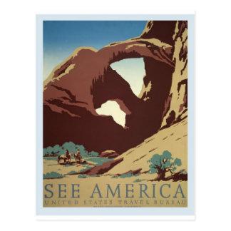 vintage-america-travel-poster. postkarte