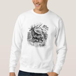 Vintage amerikanische Elch-personalisierte alte Sweatshirt