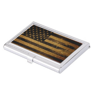 Vintage amerikanische Flagge #3 Visitenkarten Dose