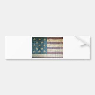 Vintage amerikanische Flagge Autoaufkleber