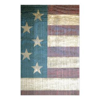 Vintage amerikanische Flagge Briefpapier