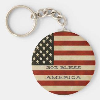 Vintage amerikanische Flagge GESCHENKE Schlüsselanhänger
