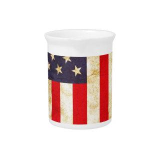 Vintage amerikanische Flagge Krug