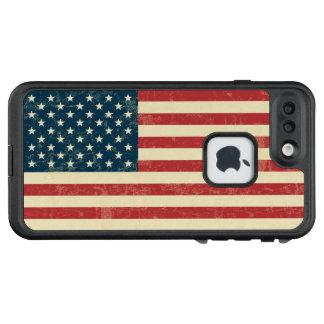 Vintage amerikanische Flagge LifeProof FRÄ' iPhone 8 Plus/7 Plus Hülle