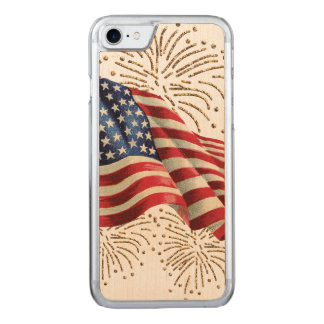 Vintage amerikanische Flagge mit Carved iPhone 8/7 Hülle