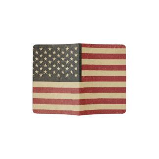 Vintage amerikanische Flagge Passhülle