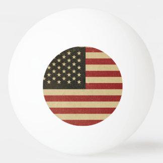 Vintage amerikanische Flagge Tischtennis Ball