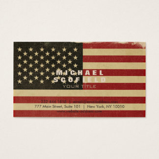 Vintage amerikanische Flagge Visitenkarte
