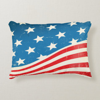 Vintage amerikanische Flagge Zierkissen
