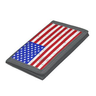 Vintage amerikanische Flaggen-Geldbörse